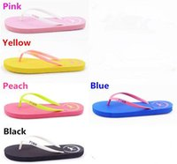 Wholesale flat shoes girl - Summer Sandals Girls Love Pink Flip Flops Pink Letter Beach Slippers Shoes Women Soft Sandalias VS Casual Rubber Sandals