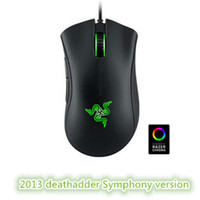 Wholesale Usb Factory - Factory direct sell razer deathadder chroma symphony USB wired optical mouse gaming mouse computer game mouse with retail free shipping