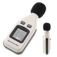 metro decibelios al por mayor-Medidor de nivel de sonido digital Probador de ruido Medidor GM1351 30-130dB En decibeles Herramienta de medición Pantalla LCD Medidor de ruido en decibeles Probador de presión