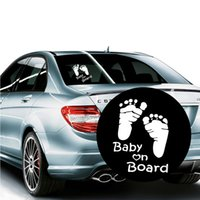 Wholesale Vehicle Window Stickers - Baby on Board Vinyl Car Graphics Window Vehicle Sticker Decal DIY Kawaii Reflective Auto Car Sticker OOA4848