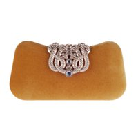 Wholesale evening dresses for dinner resale online - New Diamonds Women Evening Bags Clutch Purse With Chains Shoulder Bag For Wedding Party Dinner Sequined Minaudiere XST B0023