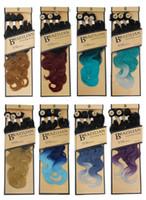 synthetic hair weave al por mayor-Paquetes brasileños de la onda del cuerpo con el cierre Rubio Paquetes brasileños de la armadura del pelo Ombre Paquetes del pelo de la fibra sintética con el cierre