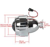 xenon-projektor licht großhandel-1 Stücke 2,5 Zoll Mini HID Bi-Xenon-Licht Projektor Len Splitter Black Shroud Adapter H7 H4 Scheinwerfer Verwendung H1 Glühbirne Für Auto motor