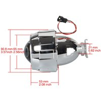 Wholesale hid bulb adapter h7 resale online - 1Pcs Inch Mini HID Bi Xenon Light Projector Len Sliver Black Shroud Adapter H7 H4 Headlamp Use H1 Bulb For Car motor