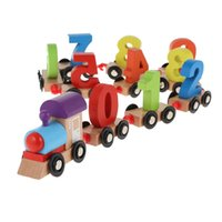 Wholesale building slides - Wooden Train Building Block Puzzle Toy 11pcs Train Puzzle Wooden Gliding Car Toy Building Blocks Jigsaw Car Toy Educational Model to Slide