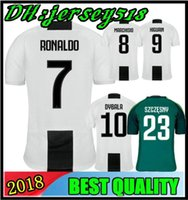 Wholesale polyester wrinkles - 2019 RONALDO Juventus soccer jersey football shirt MANDZUKIC CHIELLINI Camiseta 18 19 DYBALA HIGUAIN BERNARDESCHI maillot de foot S-3XL