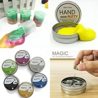 Wholesale Toy Drums Wholesale - Latex Oil rainbow Colored Barrel Slime hand putty Magnetic luminous mud clay slime Toy Crazy Trick Party Supply Trick Funny Toy drums