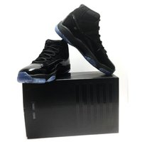Wholesale prom shoes size 11 - (with box) 2018 new color Basketball Shoes Prom Night Cap and Gown black out for Men Women 11 Athletic Sport Sneakers size 7-13