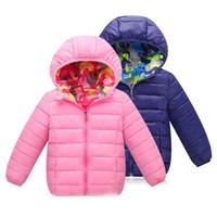 ingrosso abbigliamento invernale per bambini-3-7T Abbigliamento per bambini Reverse Indumenti per l'abbigliamento Giù cappotti Snowsuit Giacca invernale per ragazze 2018 Abbigliamento per bambini Ragazzi Capispalla