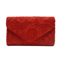 wholesale lace wedding envelopes online women s elegant floral lace envelope clutch evening prom handbag