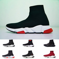 Wholesale cheap sneakers online - Cheap Luxury Brand Designer Shoes Speed Trainer Black Red Mr Porter Triple Black Flat Fashion Socks winter Boots Beige Sneaker