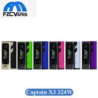 Wholesale X3 Battery - 100% Original Ijoy Captain X3 324W Box Mod 9000mAh Lipo Vape Mods with 3 20700 Battery 6 Colors vs SMOK Mag