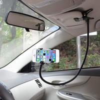 clip telefone montagem venda por atacado-Carro Universal 360 Graus de Rotação Flexível Clip-on Titular Mount Kit Mãos Livres Gooseneck Mount para Tablet Telefone XXM8