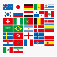 bandeiras de países do campeonato mundial venda por atacado-Campeonato do mundo de futebol russo 32 bandeira da equipe cadeia de bandeiras do país bandeira do mundo bunting bar decoração do partido em casa bba28