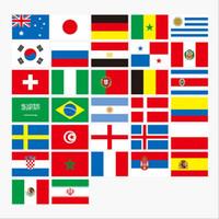 dizi bayrak bayrakları toptan satış-Rus Dünya Kupası 32 Takım bayrağı Dize bayrakları Ülke Dünya Banner Bunting bar ev partisi dekorasyon BBA28