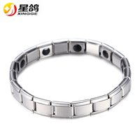 Wholesale Wholesale Magnet Bracelets - Fashion Silver Plated Health Magnetic Bracelet For Women Top Quality Stainless Steel Magnet Bracelets & Bangle link Chain Jewelry Wholesale