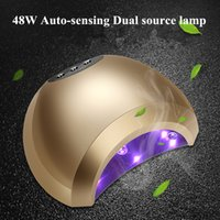 Wholesale Red Nail Art Design - New Multi-color Nail Dryer Lamp nail gel Lamp for salon designs Art Tools dry quickly 48w UV Led dryer lamps