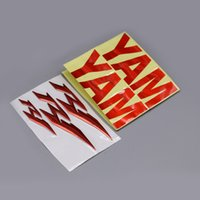 Wholesale yamaha tank stickers - RED BLUE GOLD CHROME BLACK Motorcycle 3D Chrome R1 Tank Cover Wheel Badge Emblem For Yamaha YZF R1 Kit Decals Stickers Universal