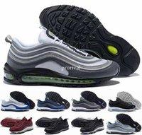 Wholesale neon shoes for men - 2018 New Arrival 97 OG Bullet Cushion Silver Bordeaux Neon Black Volt Game Royal Running Shoes for Men Women Sports 97s Sneakers 36-46