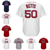 Wholesale Boston Sales - Men's Boston Jersey #34 Ortiz JD Martinez Dustin Pedroia Mookie Betts Andrew Benintendi Chris Sale Bogaerts Bradley Jr Baseball Jerseys