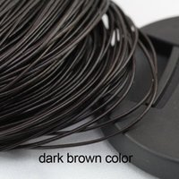 Wholesale brown leather necklace cord for sale - Group buy Free ship Meters mm Dark Brown Round Genuine Leather Cord Necklace Bracelet Real Leather Cord