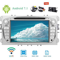 Wholesale ford wireless - Eincar Wireless Rear Camera+Canbus+Android 7.1 Double 2 DIN 7'' OCTA Core 2GB+32GB In Dash Car dvd Stereo radio Headunit Autoradio for Ford