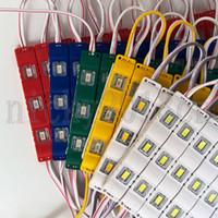 cinta rosa led de iluminacion al por mayor-12V 5630 Módulo LED Light Strip Tape 3 LEDs 12V Moldeo por inyección Resistente al agua para la señal de publicidad Blanco Cálido Rojo Verde Azul Rosa Amarillo