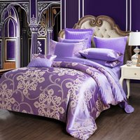 Wholesale european beds online - European Style Suit Bedding Sets Queen Size Luxury Duvet Covers Fashion Lace Jacquard Weave Quilt Cover Pure Cotton ty2 Ww