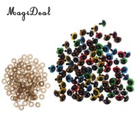 Wholesale toy washer online - 100 Pieces Mixed Color Plastic Safety Eyes with Washers for Dolls Animal Making DIY Manufacture Craft Toys