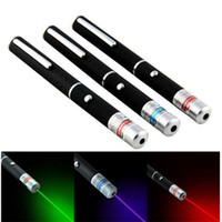 lasers d'extérieur vert bleu rouge achat en gros de-Pointeur laser rouge / vert / bleu de haute qualité 5mW puissant stylo laser 500M pointeur professionnel de Lazer pour l'enseignement en plein air