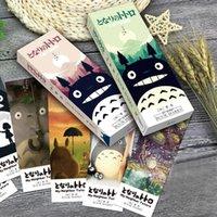 marcadores kawaii al por mayor-32 PC / paquete lindo Mi Vecino Totoro Bookmark Kawaii Marcadores de papel para la lectura Oficina de la Escuela de escritorio regalo