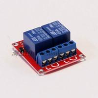 módulo de relé de potencia al por mayor-Nueva 2 vías 5V DC fuente de alimentación Módulo de relés de control Módulo de relés Relé de expansión 5V 12V 24V