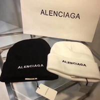 ingrosso cappello di lana-2017 Marca BB B Nuovo cappello di lana Lettera Logo modello onda Ricamo Sport Knit Hat Uomo Donna Coppia Flanging Cap Nuovo