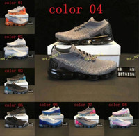 Wholesale high fashion shoes for women - 2018 New Rainbow VaporMax V2 2018 BE TRUE Men Woman Shock Running Shoes For High quality Fashion Casual classic Sports Sneakers size 36-45