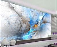 motifs de papier peint traditionnels achat en gros de-Belle et belle couleur abstraite changement TV fond mur paysage 3d paysage papier peint