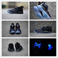 zapatos de paul al por mayor-2019 Lights UP PG 2 PlayStation Taurus All-Star OKC PS Locura de marzo Zapatos de básquetbol de Road Master Paul George II PG2 2s EUR7-12