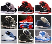 Wholesale Retro Low Flats Shoes - Retro 11 Space Jam Legend Basketball Shoes Air Retro 11s Win Like 96 82 GYM Red Low High Ankle Sports Shoes With Box