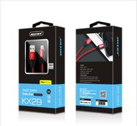 android kabel-boxen großhandel-HEISSES Micro-USB-Kabel 3A langlebiges Nylon geflochtenes Hochgeschwindigkeitsauflade-USB-Typ-C-Kabel 1M für Android-Smartphone Samsung Huawei LG mit Box