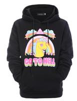 hoodie da cópia do unicórnio venda por atacado-JM Atacado 2018 novo estilo de impressão a cor hoodies Unicorn pony de manga comprida com capuz casacos dos homens