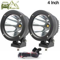 utv 4x4 para al por mayor-XuanBa 2Pcs 4 pulgadas 25W Luz de trabajo LED redonda para AVT Offroad 4x4 Barco Camión UTV Conducción Faros de motocicleta Luces de trabajo