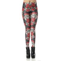 meias leggings venda por atacado-Atacado Frete Grátis Mulheres Crânio ROGE Snowflake Galaxy Floresta 3D Sublimação Impresso Skinny Apertado Calças Moda Leggings