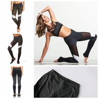 Wholesale cotton tights for women - Women's Sports Mesh Yoga Pants Gym Workout Sport Yoga Leggings Fitness Sexy Running Tights Trousers For Women KKA4529