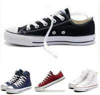 zapatos de deporte de los hombres grandes al por mayor-Nueva estrella de gran tamaño 35-46 Zapatos casuales Low top Deportivas de estilo estrellas Chuck Classic Zapatillas de lona Zapatillas de lona para hombre / mujer