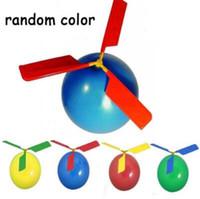 balon diy toptan satış-Uçan Balon Helikopter DIY Balon Uçak Oyuncak Kendinden Kombine Balon Scenic Nokta Uçan Balonlar Parti Süslemeleri CCA9922 200 adet