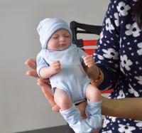 Wholesale reborn baby girl newborn - Reborn Baby Dolls Real Doll Handmade Reborn 11 inch Real Looking Newborn Baby Girl Silicone Realistic Doll 1pcs Free Shipping