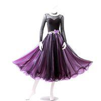 faldas de tango al por mayor-2018 Nueva Led Costume Sale Ballroom Dance Skirts Más nuevo diseño Mujer Modern Waltz Tango Dress / standard Competition Dress