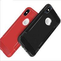 yumuşak hücrenin telefonunu toptan satış-2018 Karbon Fiber TPU Kılıf Lüks İnce Mat Yumuşak Kauçuk Cep Telefonu Kılıfları iphone X 8 7 6 6 S artı