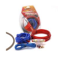 amplificador de cable al por mayor-Kit de instalación del amplificador de potencia para automóvil 8 Gauge Automóviles Altavoz de graves Cable de subwoofer Cables de audio Cableado con trajes de fusibles Nuevo