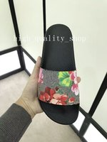 Wholesale Flowers Free Delivery - 2018 free delivery New fashion tiger slippers men&women red flower slide Comfortable unisex outdoor holiday hotel beach scuffs size 36-45