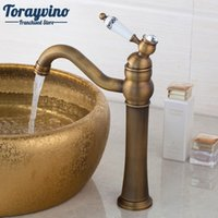 Wholesale antique sinks - Bathroom facuet Kitchen Sink Basin Faucet Vanity Sink Mixer torneira robinet Antique Brass Finish Solid Brass Tap.